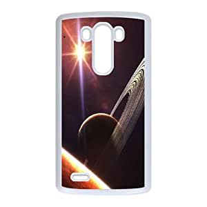 Durable Hard cover Customized TPU case Planet Saturn LG G3 Cell Phone Case White