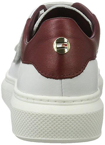 4a1 White Hilfiger para Mujer S1285abrina Blanco Zapatillas Tommy xqA6SwEvv