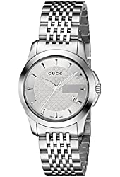Gucci Women's YA126501 G-Timeless Stainless Steel Watch