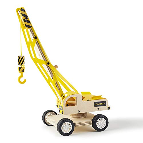 Stanley Jr.. - Lifting Crane Kit, Large Wood Building Kits Ages 5+ (OK035-Sy)]()