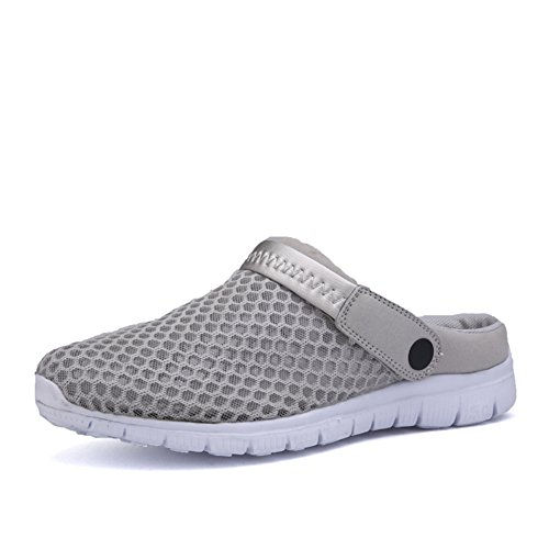 Vnfire Men Women Non-Slip Breathable Mesh Net Slippers Beach Sandals Sport Casual Shoes Summer Sneakers Gray 6Unw8X45