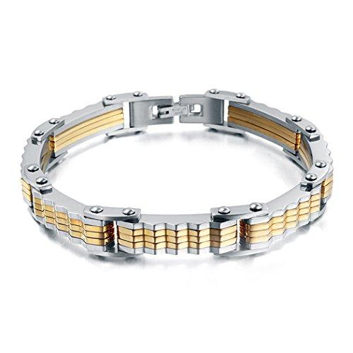 [Red Dandelion Fashion Titanium Steel Personalize Men Bracelet] (Bk King Costume)