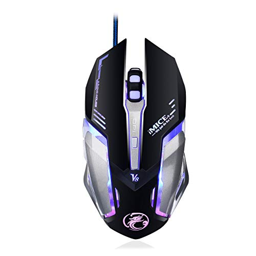 VITASS Mouse Mice Wired Gaming Mouse Gamer 4000DPI Computer Game Mouse Professional 6 Buttons Game Mice Optical Mouse for Laptop LOL Dota 2
