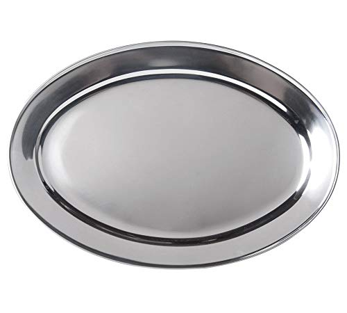 (Stainless Steel Oval Platter, Large, 26 x 18-Inch Serving Platter by)