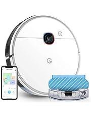 yeedi 2 hybrid robotstofzuiger met dweilfunctie, Visual-SLAM-navigatie, 2500 Pa zuigvermogen, ruimtekaart, 200 minuten looptijd, compatibel met Alexa, stofzuiger robot voor dierenharen, tapijten, vloeren