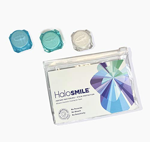 HaloSmile Instant Teeth Whitening Cosmetic Trial Kit (3 Applications, Natural, Celebrity and Clear Shield)