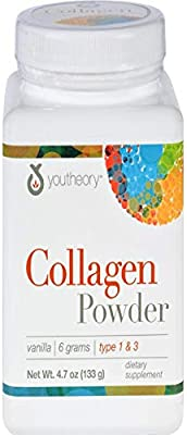 YOUTHEORY Vanilla Collagen Powder, 4.7 OZ