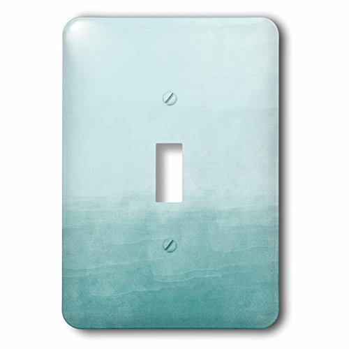 3dRose LSP _ _ _ _ _ _ _ _ _ _ 217560 _ _ _ _ _ _ _ _ _ _ 1 Creamy Acuarela Azul Ombre Single Toggle Switch, Aqua