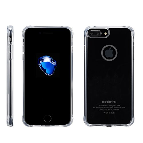 MobilePal Qi Wireless Charging Case for iPhone 7 Plus and iPhone 6(s) Plus [New 2017 Model] (Black)