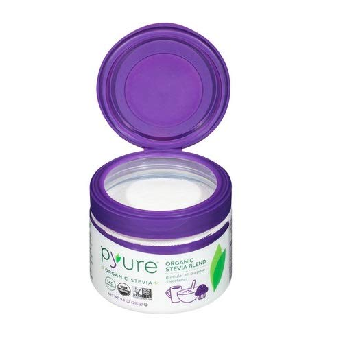 Pyure Organic All-Purpose Blend Stevia Sweetener, Sugar Substitute, Flip-Top Tub, 9.8 Ounce by Pyure (Image #2)