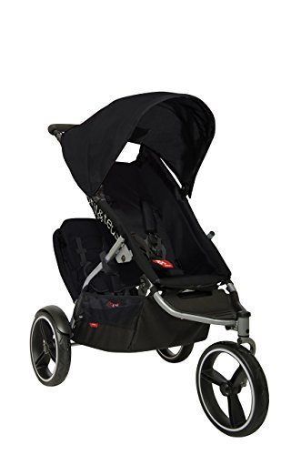phil&teds S4 Inline Stroller with Doubles Kit, Black/Black by phil&teds