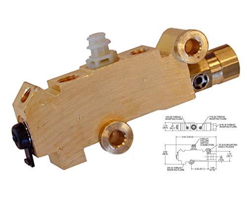 for 74-86 Jeep CJ5 CJ7 CJ8 Disc Drum Brake Brass Proportioning Valve Quick - Disc Brake Wagoneer