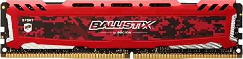 Crucial Ballistix Sport LT 3200 MHz DDR4 DRAM Desktop Gaming Memory Single 16GB CL16 BLS16G4D32AESE (Red)
