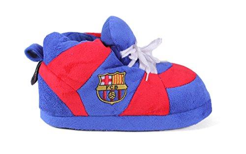 Bekväma Fötter Glada Fötter Mens Och Womens Officiellt Licensierade Fotbollsklubben Gymnastiksko Tofflor Fc Barcelona