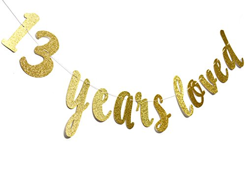 13 Years Loved Banner