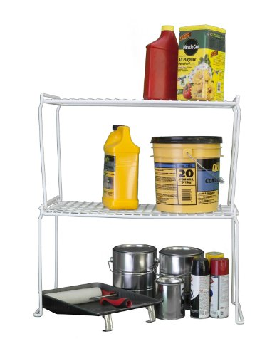 Grayline 44010, Long Heavy Duty Stacking Shelf, White