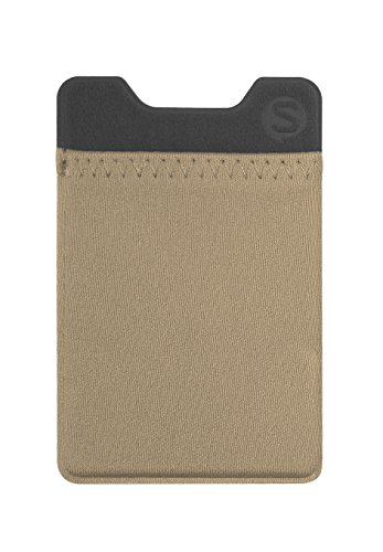 Silk Stick-on Phone Wallet - Sidecar Slim Expandable Credit Card Pocket - Fits iPhone and Android (Champagne Gold) (Gold G2 Lg Champagne Case)