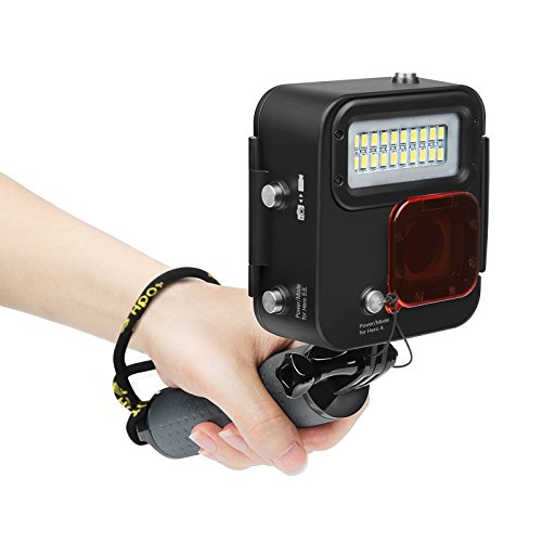 Underwater Diving Light Waterproof 30m (130 feet) 1000LM LED Video Light with Filter for Gopro Hero 6/5/4 Action Camera …