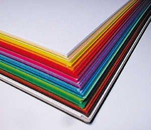 Tonzeichenpapier, 250 Blatt in 25 Farben sortiert, DIN A3 Folia Paper
