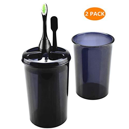 BIG DREEM Bathroom Toothbrush Holder Set ElectricToothbrush Holders Toothbrush Cups Toothpaste Caddy Toothbrush Storage Set Pack of 2-Grey (Holder Cup Toothbrush)