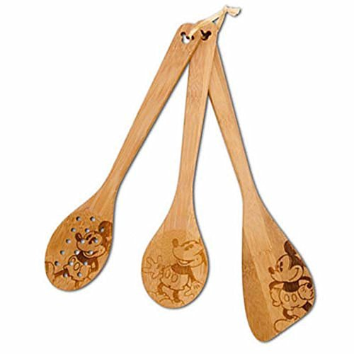 disney parks mickey mouse gourmet 3 utensil set bamboo new with tag