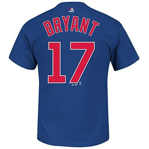 Majestic Kris Bryant Chicago Cubs MLB Player Men T Shirt Blue XXL