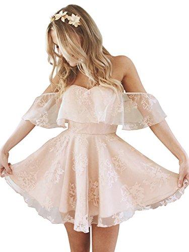 Simplee Naked Elegant Backless Women's Apparel Pink Dress Shoulder Mini Off Strapless r85zrq1nWB