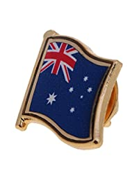 MonkeyJack Collectible Metal Pin National Flag Badge Emblem for Clothing Lapel Ornament