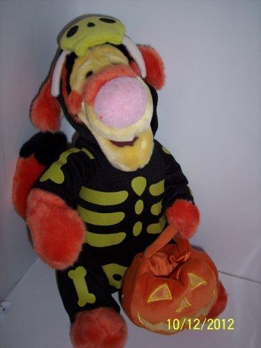 Tigger Halloween Skelton Costume w/ Pumpkin Trick Treat Bag, 13 Inches]()