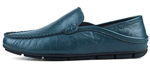 Shoes Blue a Toe On Penny Hiking TDA Slip Driving Men's Loafers Synthetic Closed q1w7WCv6Pa