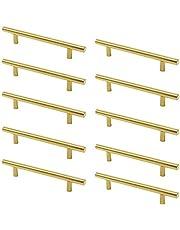 Meubelgreep messing – 10 stuks deurknoppen T-handgrepen voor keukenkasten.