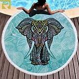 Gaudere Microfiber Beach Towel (Elephan of the India, 59 in)