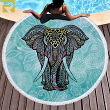 Gaudere Microfiber Beach Towel (Elephan of the India, 59 in)