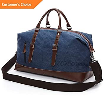 Amazon.com | Sandover Vintage Men Travel Duffle Bag gage Canvas Gym Weekend Overnight Shoulder Bag | Model LGGG - 12836 | | Luggage