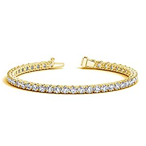 8 Carat Classic Diamond Tennis Bracelet 14K Yellow Gold Value Collection