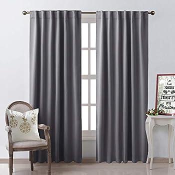 Amazon Com Nicetown Bedroom Curtains Blackout Curtain