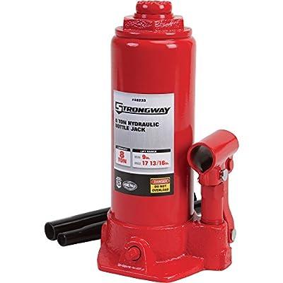 Strongway Hydraulic Bottle Jack - 8-Ton Capacity, 9in.-17 13/16in. Lift Range