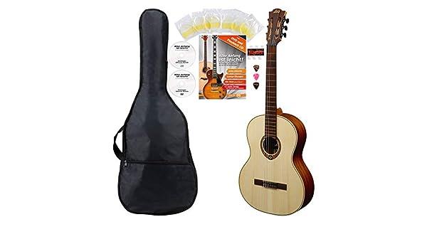 LAG OC70 Occitania 70 - Guitarra de concierto (tamaño 4/4): Amazon ...