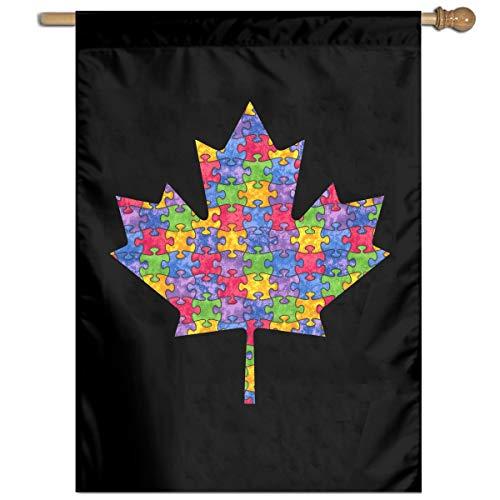Autism Awareness Canada Maple Leaf Funny Home Backyard Garden Flag Festival Flag]()