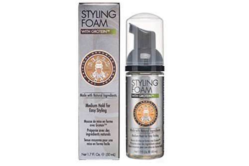 Best Beard Styling Foam for All Hair Types - Made with Moisturizing Oils and Nourishing Extracts - Smells Great - Promotes Thicker and Fuller Hair - Citrus Scented/1.7 oz Beard Care by Beard Guyz