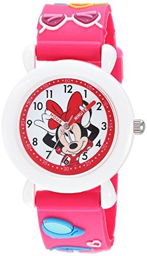 Disney Girl's 'Minnie Mouse' Quartz Plastic Casual Watch, Color:Pink (Model: WDS000389)