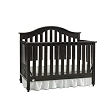 Fisher Price Kingsport Convertible Crib with Just the Right Height, Espresso