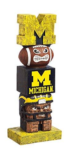 - Evergreen NCAA Michigan Wolverines Tiki Totem