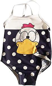 eKooBee Newborn Infant Baby Girls Swimwear One Piece Stripe Swimsuits Tutu