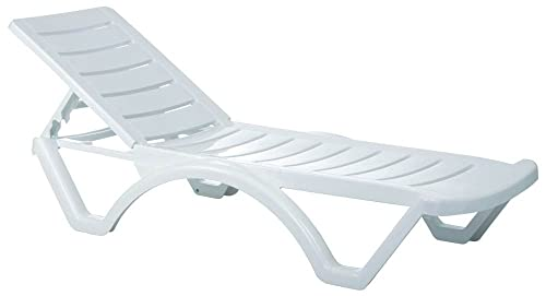 Compamia Aqua Pool Chaise Lounge in White – Set of 4