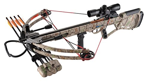 XGear 150lbs 325fps Crossbow Archery Bow Hunting Equipment with Scope, Quiver and Arrows