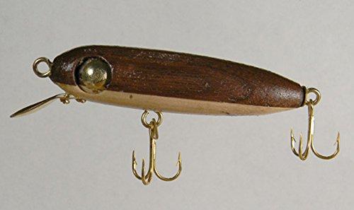Amazon com: Hand Carved Crankbait Fishing Lure Black Walnut