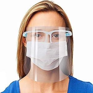 Protector facial de seguridad, paquete de 5 gafas reutilizables, visera transparente antivaho para proteger los ojos de las salpicaduras 18