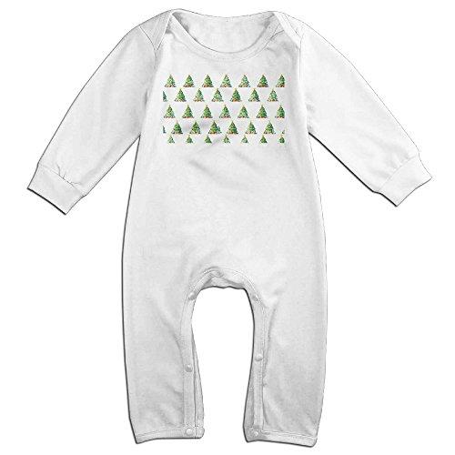 VanillaBubble Christmas Tree For 6-24 Months Boys&Girls New Design Long Sleeved Tee White Size 6 M