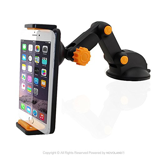 Car Phone Mount, NOVOLAND Universal Cell Phone Dash and Wind